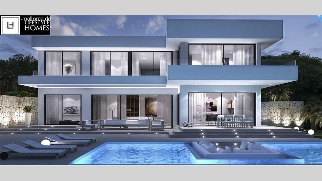 Hd neubau gro e moderne luxus villa im for Grundrisse villa neubau