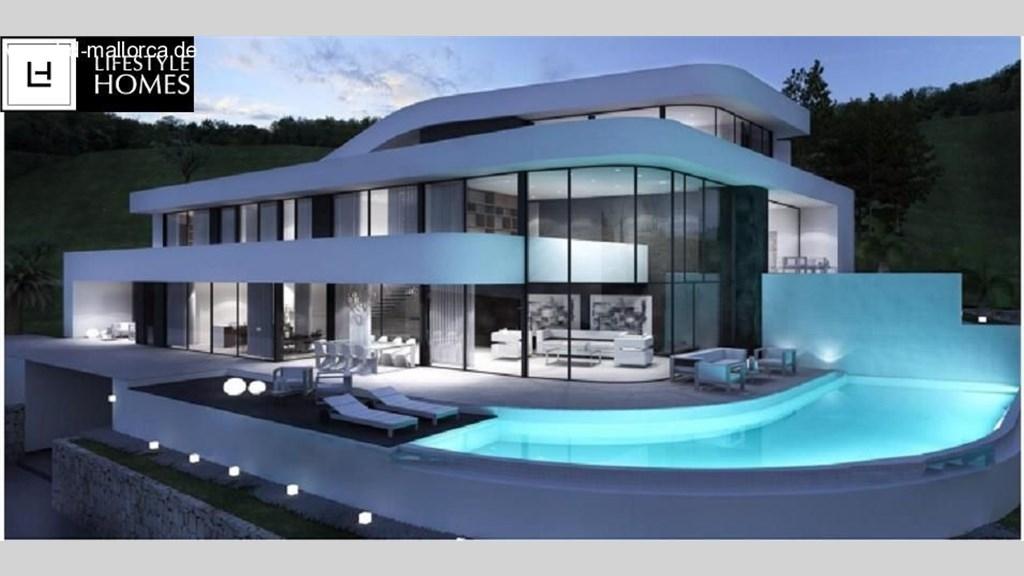 hd prachtvolle moderne villa mit harmonischen formen ohne grundst ck www. Black Bedroom Furniture Sets. Home Design Ideas
