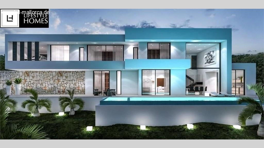hd wundersch ne moderne villa ber 2 etagen 3 sz ohne grundst ck. Black Bedroom Furniture Sets. Home Design Ideas